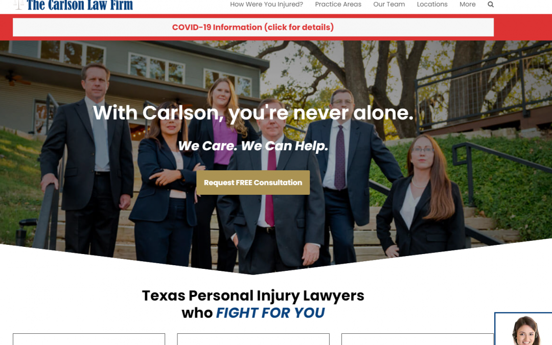 The Carlson Law Firm – White Inc. Consult