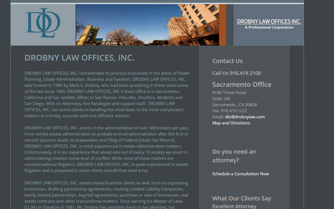 Drobny Law Offices Inc. – White Inc. Consult