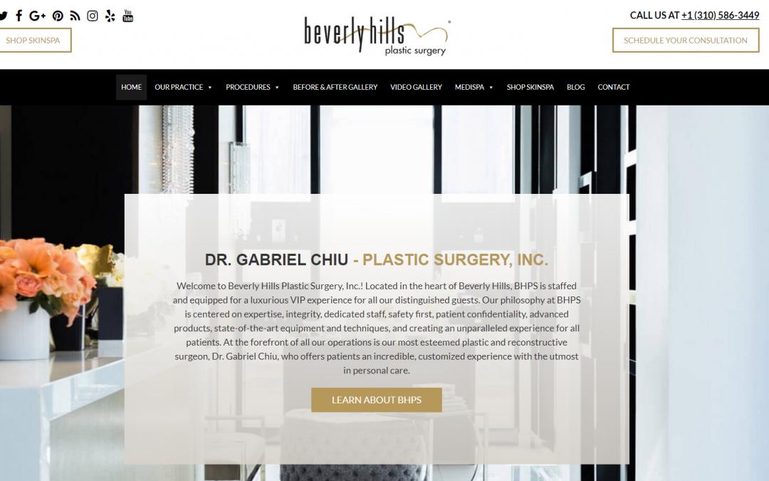 Dr. Gabriel Chiu – Plastic Surgery, Inc.  – White Inc. Consult