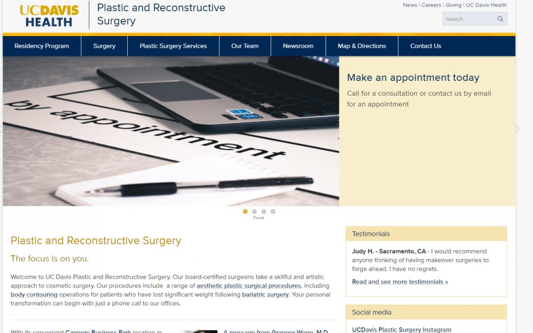 UC Davis Plastic Surgery  – White Inc. Consult